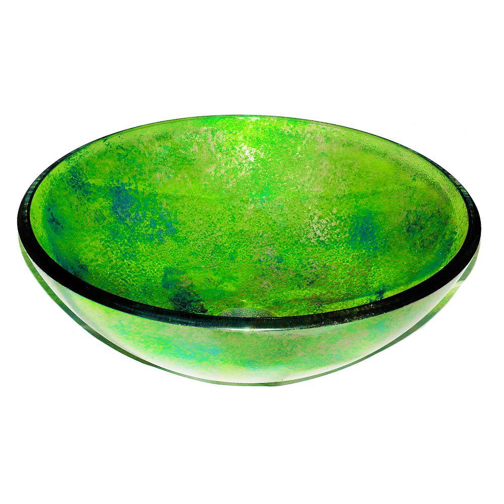 Зеленая тонированная накладная чаша картинка